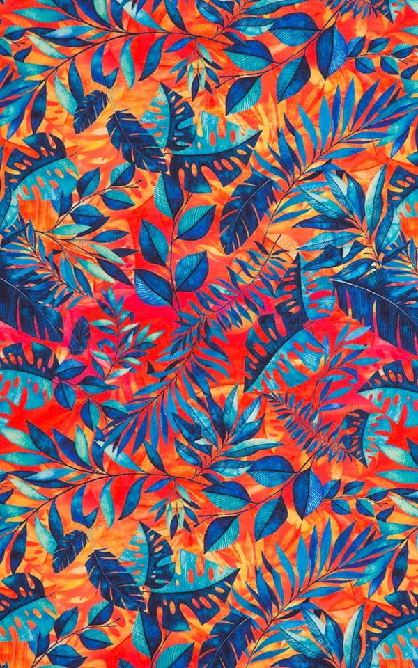 Boy Cut Swim Shorts Bottom in Amazon Heat Fabric