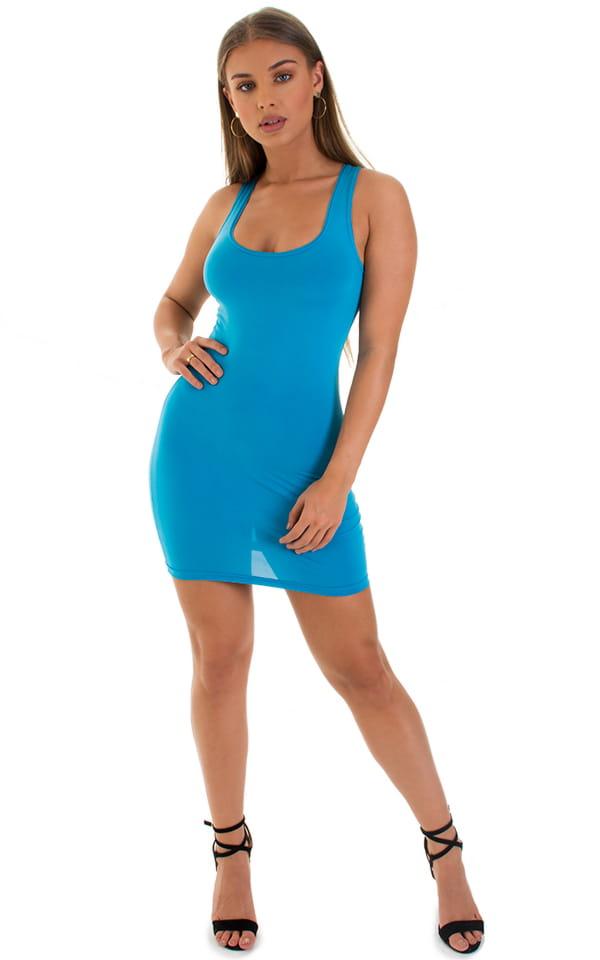 Micro Mini Dress in ThinSKINZ Sapphire 4