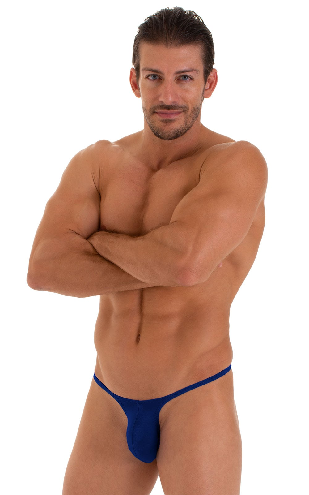 Sunseeker Micro Pouch Half Back Bikini in ThinSkinz Royal Blue 1