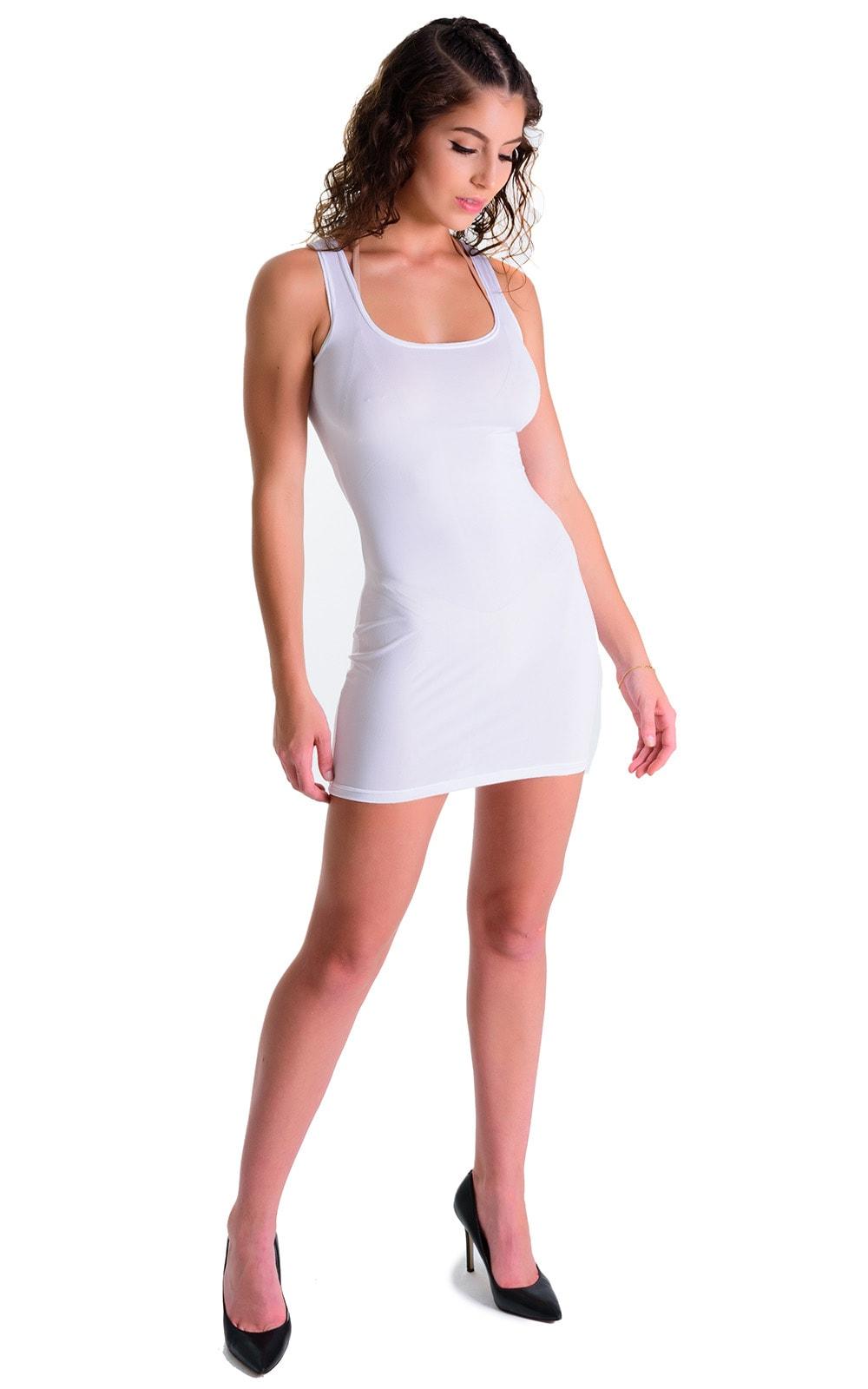 Mini Dress in Super ThinSKINZ White 3