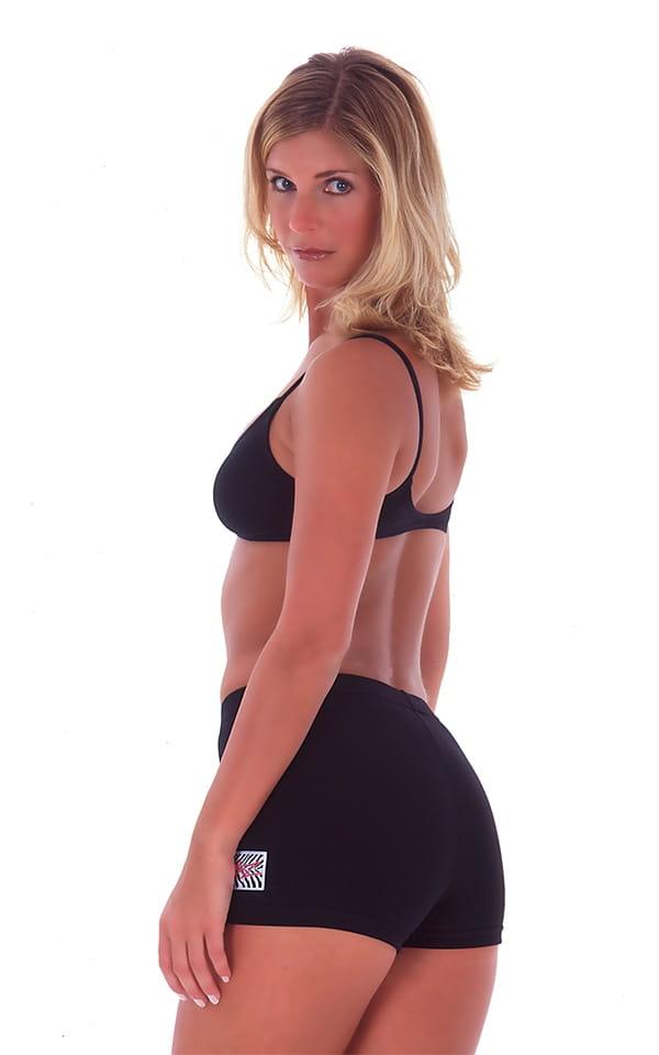 Womens Swim and Sport Fun Top in Black cotton/lycra 3