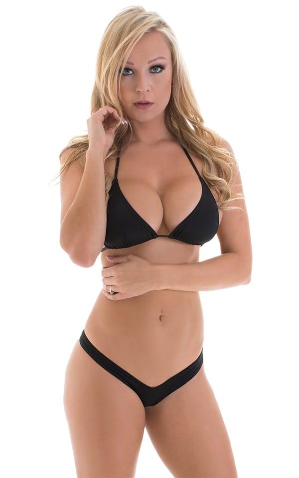 Micro Booty Thong Bikini in ThinSKINZ Black 1