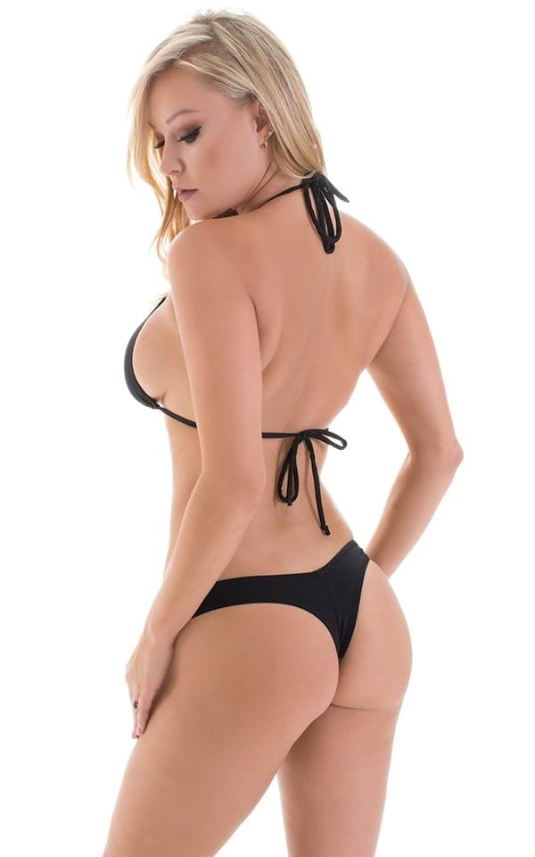 Micro Booty Thong Bikini in ThinSKINZ Black 3
