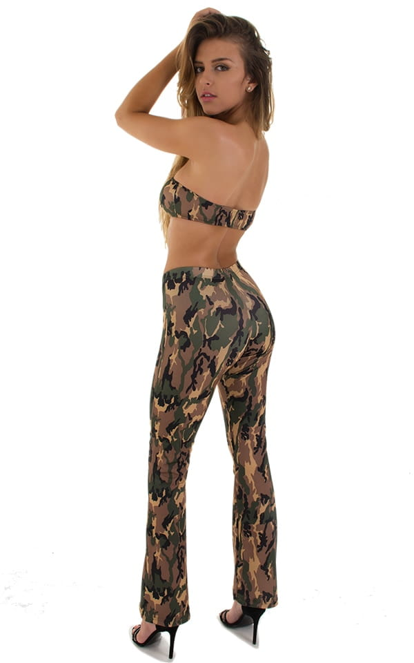 Tanning Bandeau Swimsuit Top in Camo 2