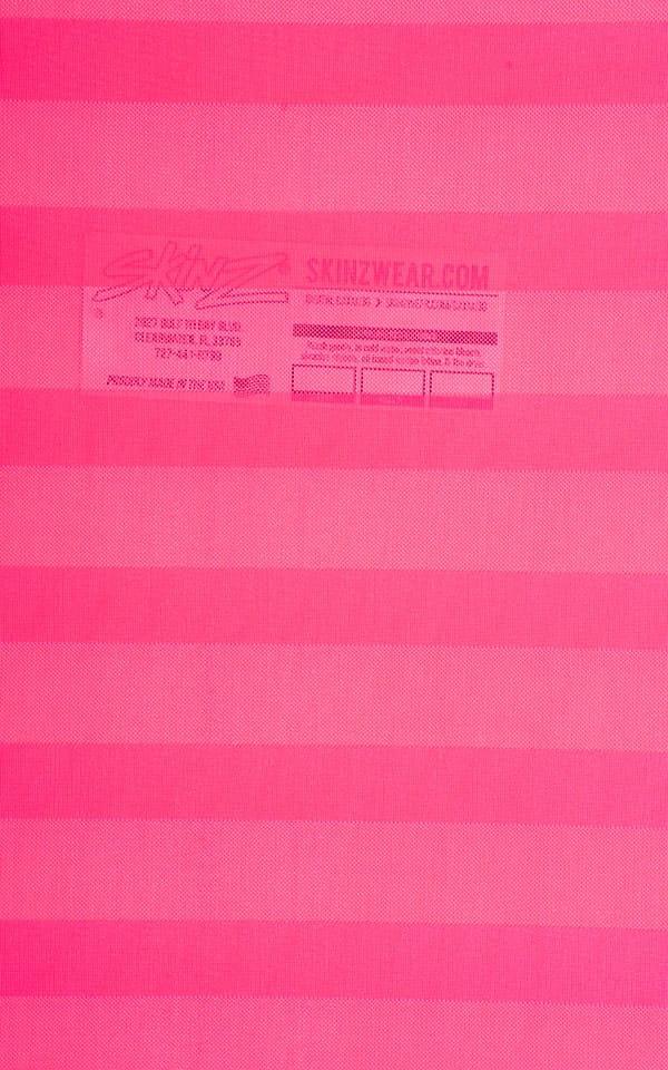 Fuschia Satin Stripe Mesh Fabric
