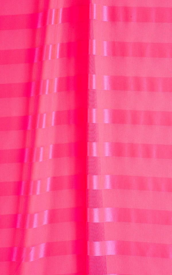 Mini Dress in Fuschia Satin Stripe Fabric