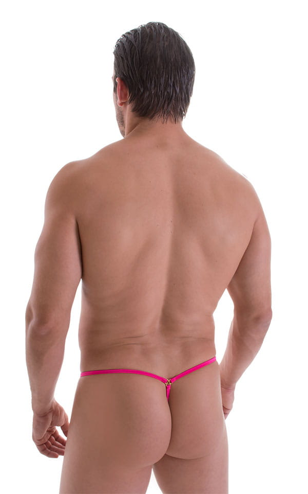 G String Swimsuit - Adjustable Pouch in ThinSKINZ Neon Pink 3