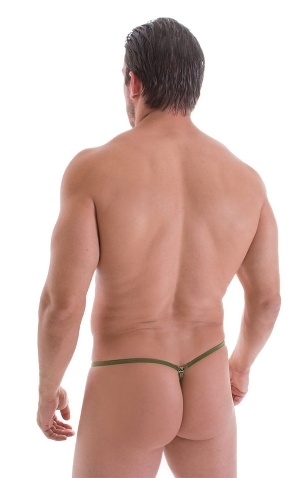 G String Swimsuit - Adjustable Pouch in ThinSKINZ Sage 3