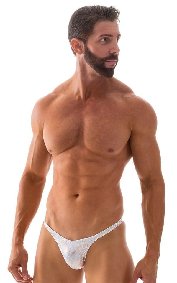 Rio Tanning Bikini Swimsuit in White Silver Holographic 5