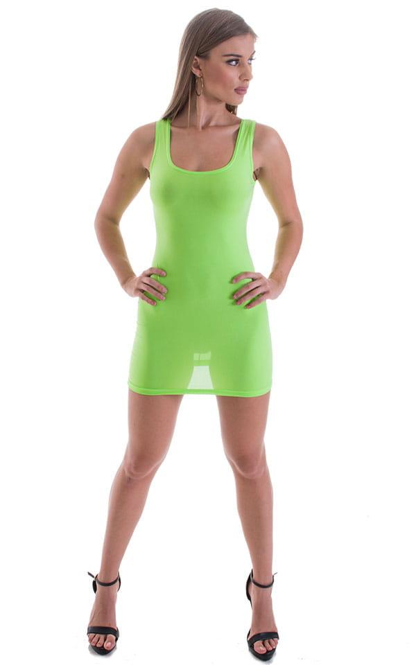 Micro Mini Dress in ThinSKINZ Neon LIme 5