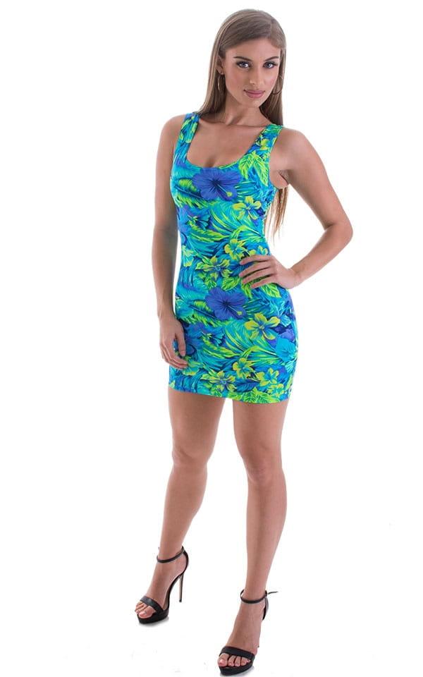Micro Mini Dress in Tahitian Rainforest 4