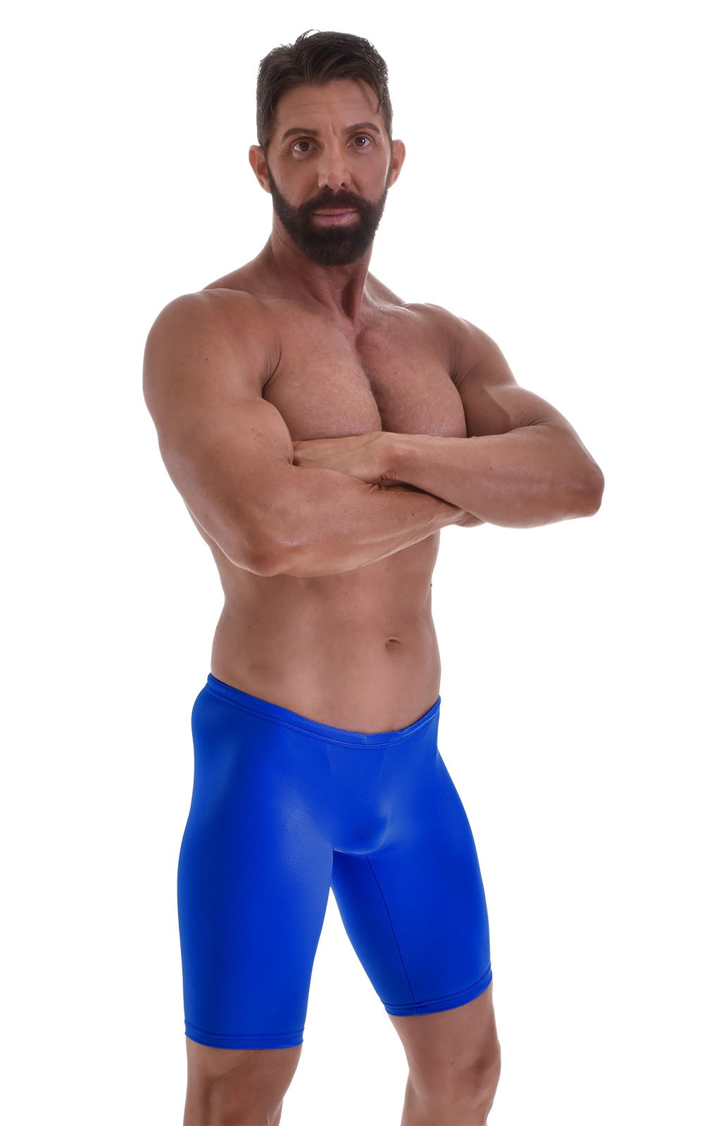 Swim-Dive Competition Watersports Shorts in Wet Look Royal Blue 5