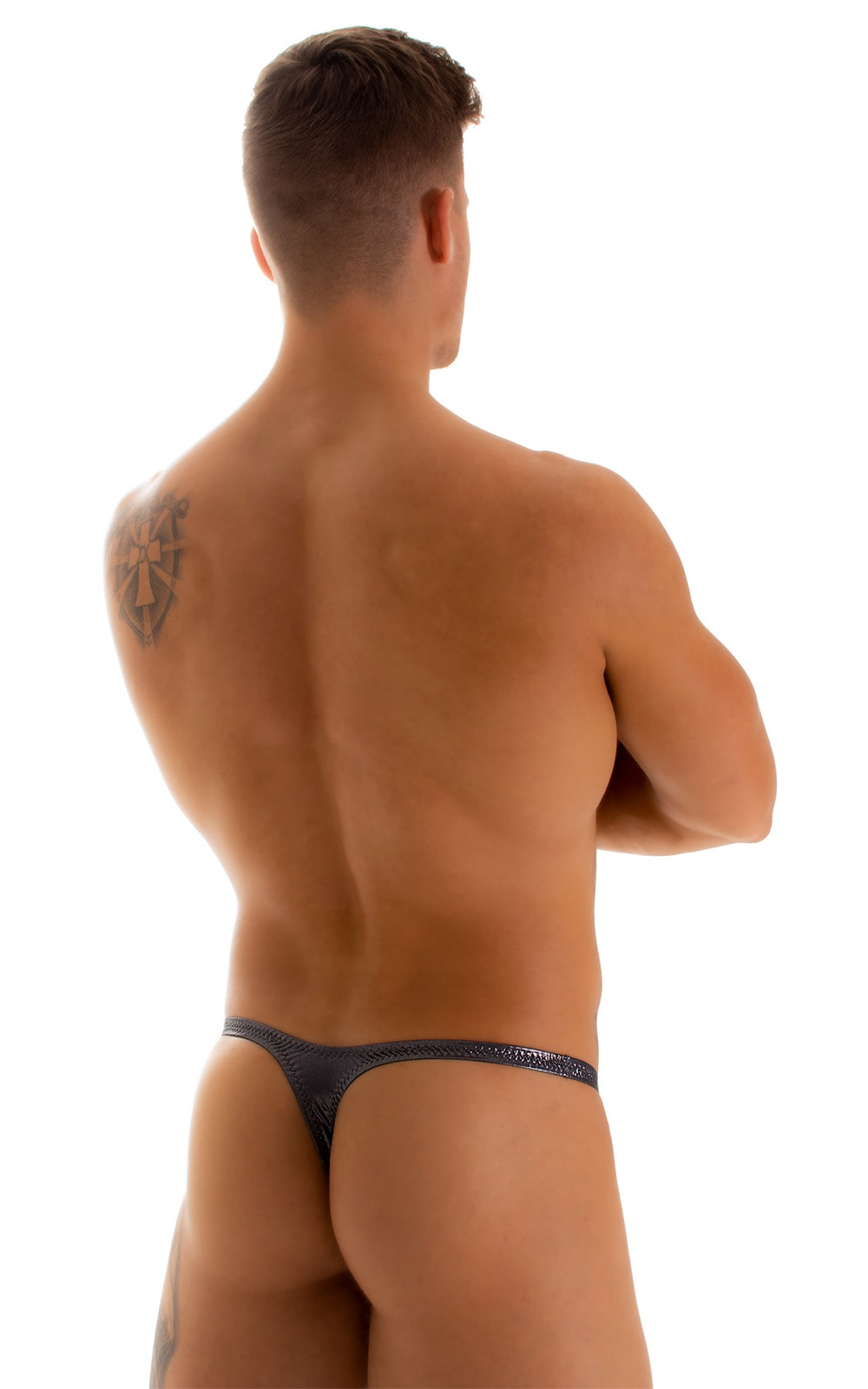 Stuffit Pouch Thong in Black Ice 2