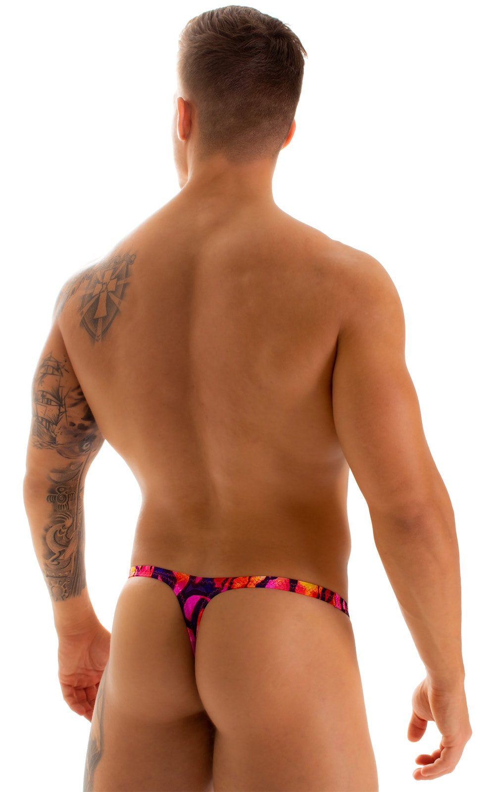 Stuffit Pouch Thong in Beach Tiger Pink 2