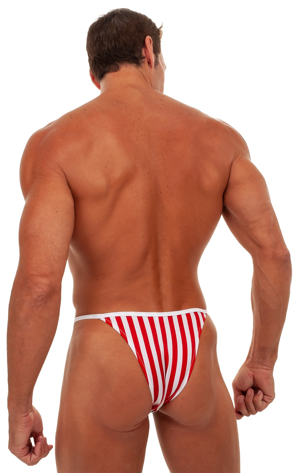Banded - High Cut - Half Back - Swimsuit in Stars & Stripes 3