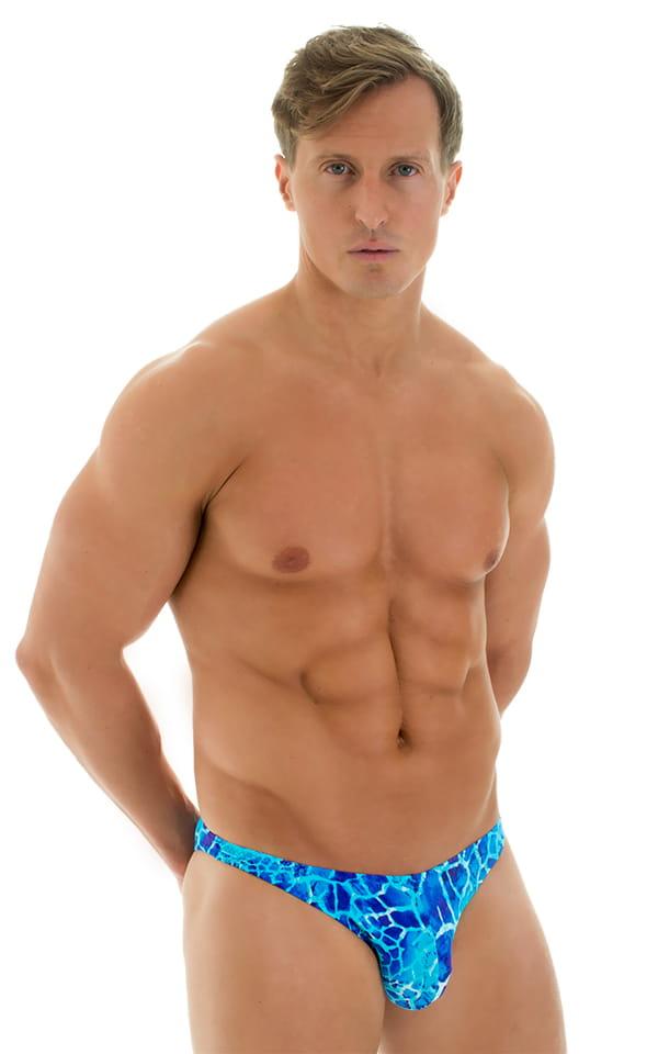 Enhancing Pouch Swim Brief in New World Blue 1