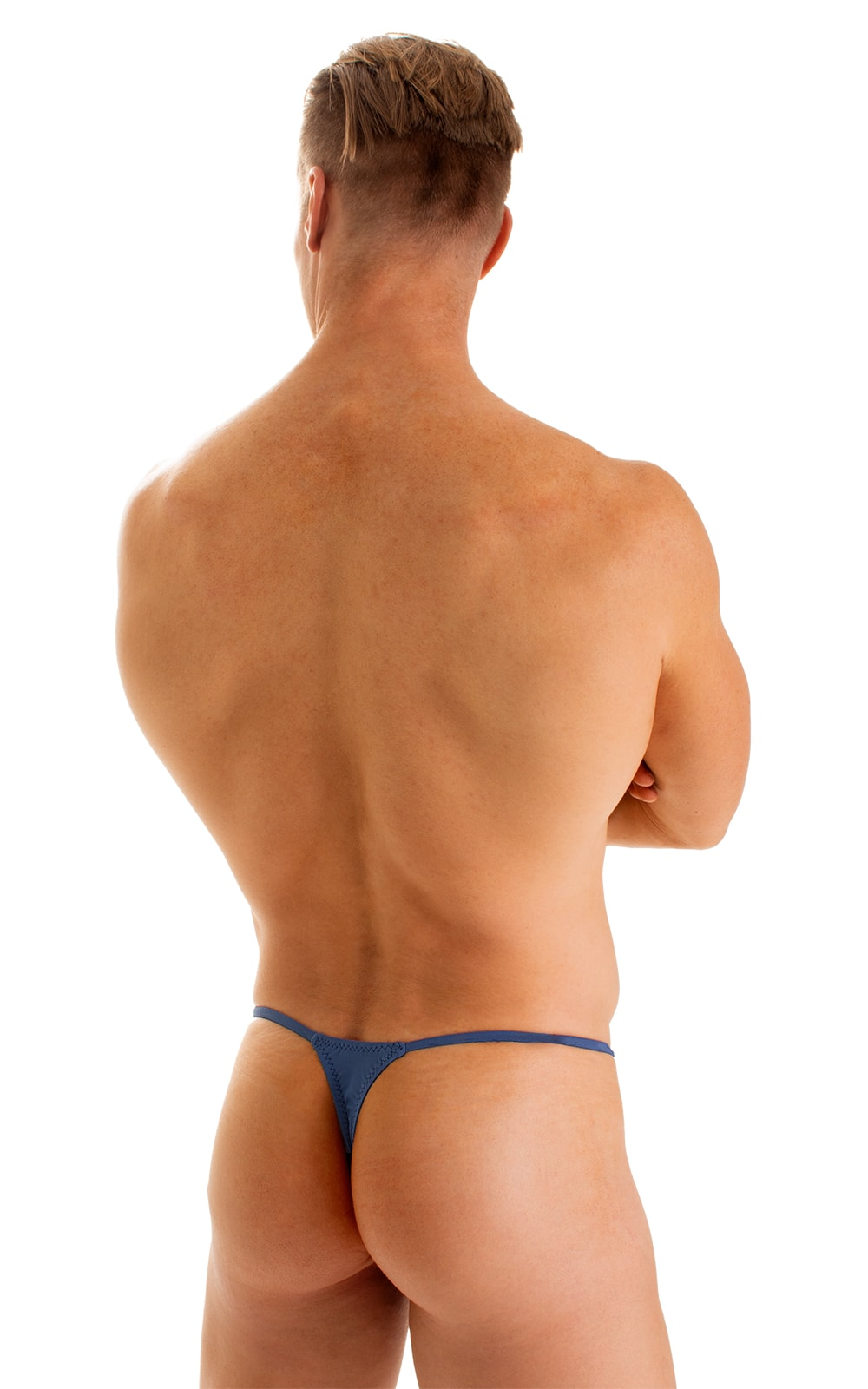 Smooth Pouch Skinny Sides Swim Thong in Globe 2
