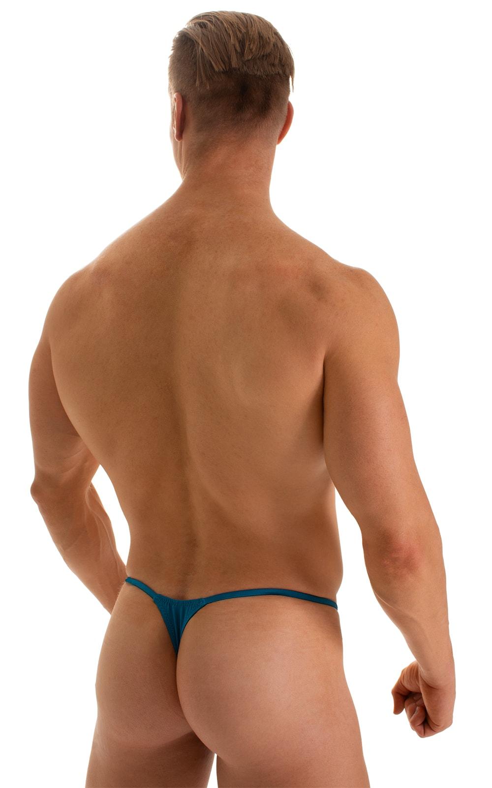 Smooth Pouch Skinny Sides Swim Thong in Mallard 2