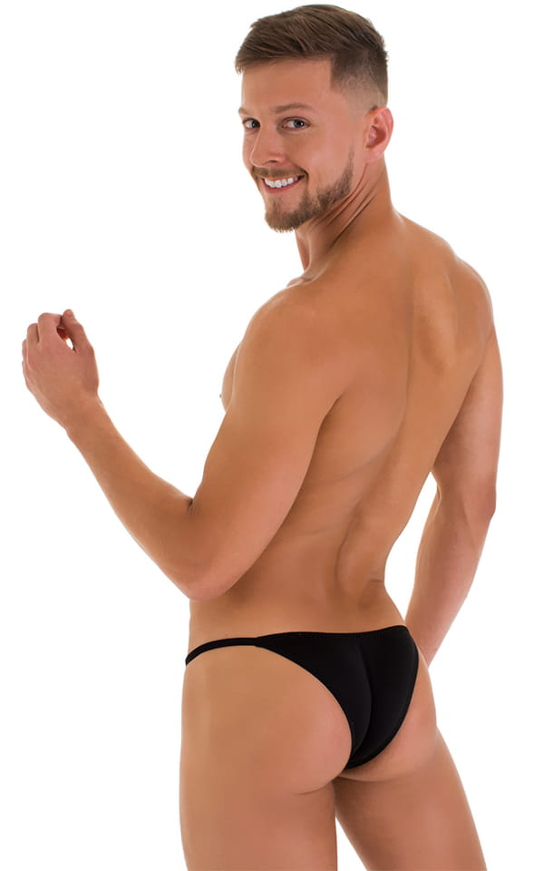 Stuffit Pouch Half Back Tanning Swimsuit in Super ThinSKINZ Black 1