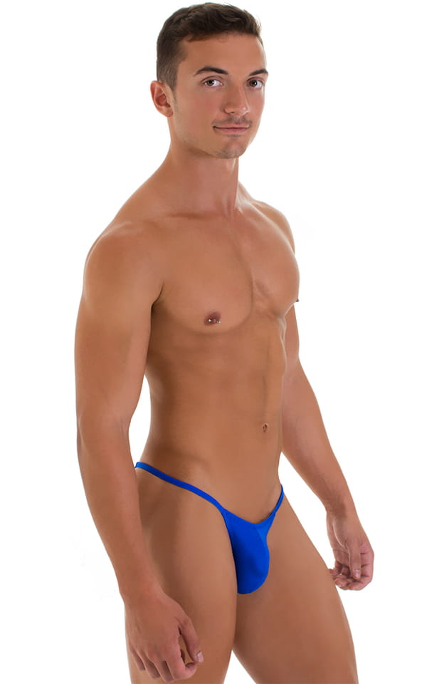 Stuffit Pouch Half Back Tanning Swimsuit in Royal Blue 5
