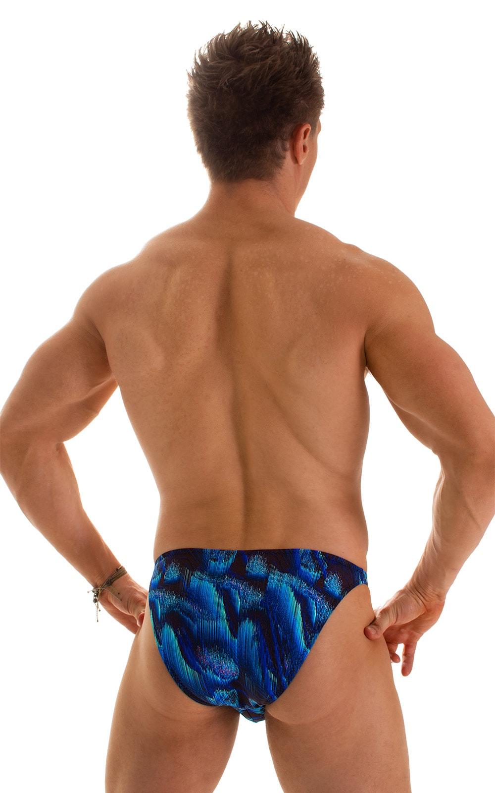 Fitted Bikini Bathing Suit in Digital Rush Blue 2