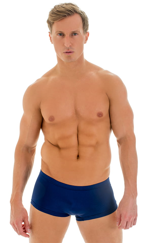 Extreme Low Square Cut Swim Trunks in Navy Blue 1