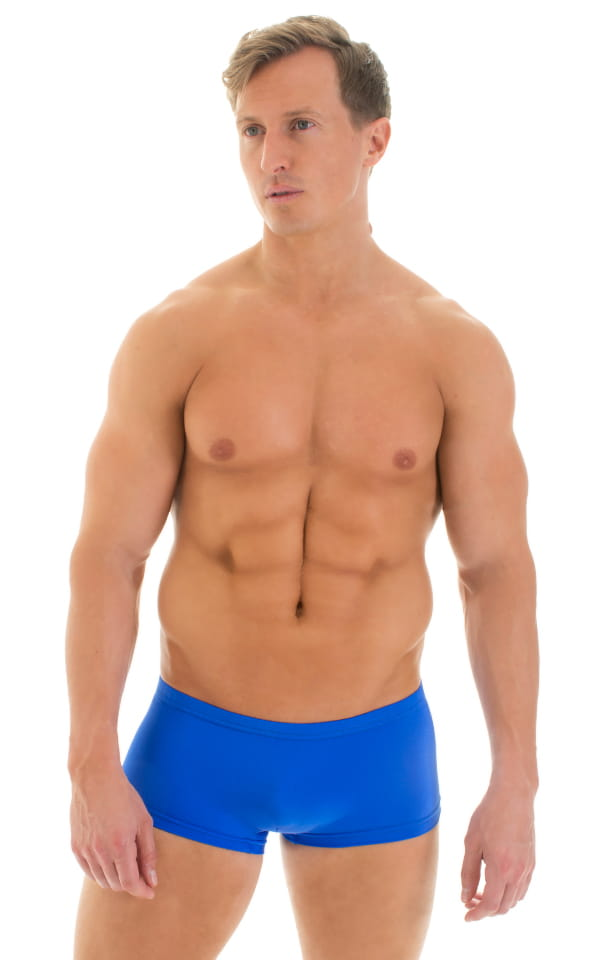 Extreme Low Square Cut Swim Trunks in Royal Blue 1