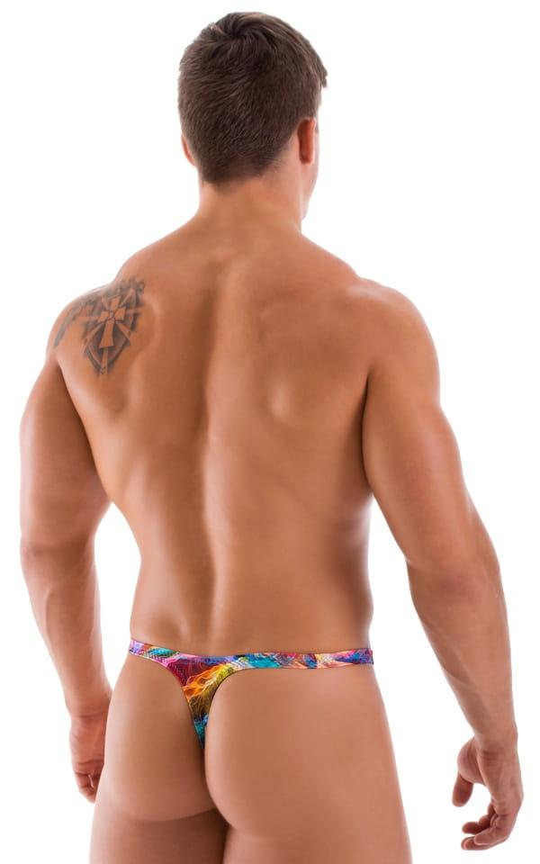 T Back Thong Swimsuit in Vapors 3