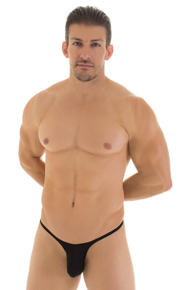 Sunseeker Micro Pouch Half Back Bikini in Super ThinSKINZ Black 1