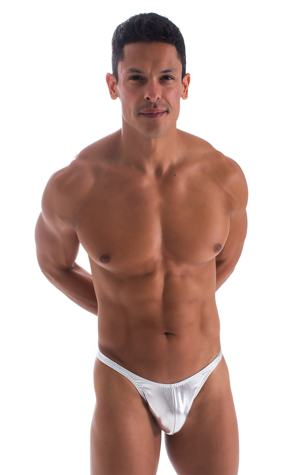 Fitted Pouch - Puckered Back - Bikini in Liquid Silver 1