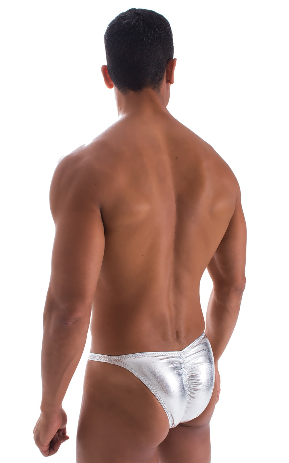Fitted Pouch - Puckered Back - Bikini in Liquid Silver 2