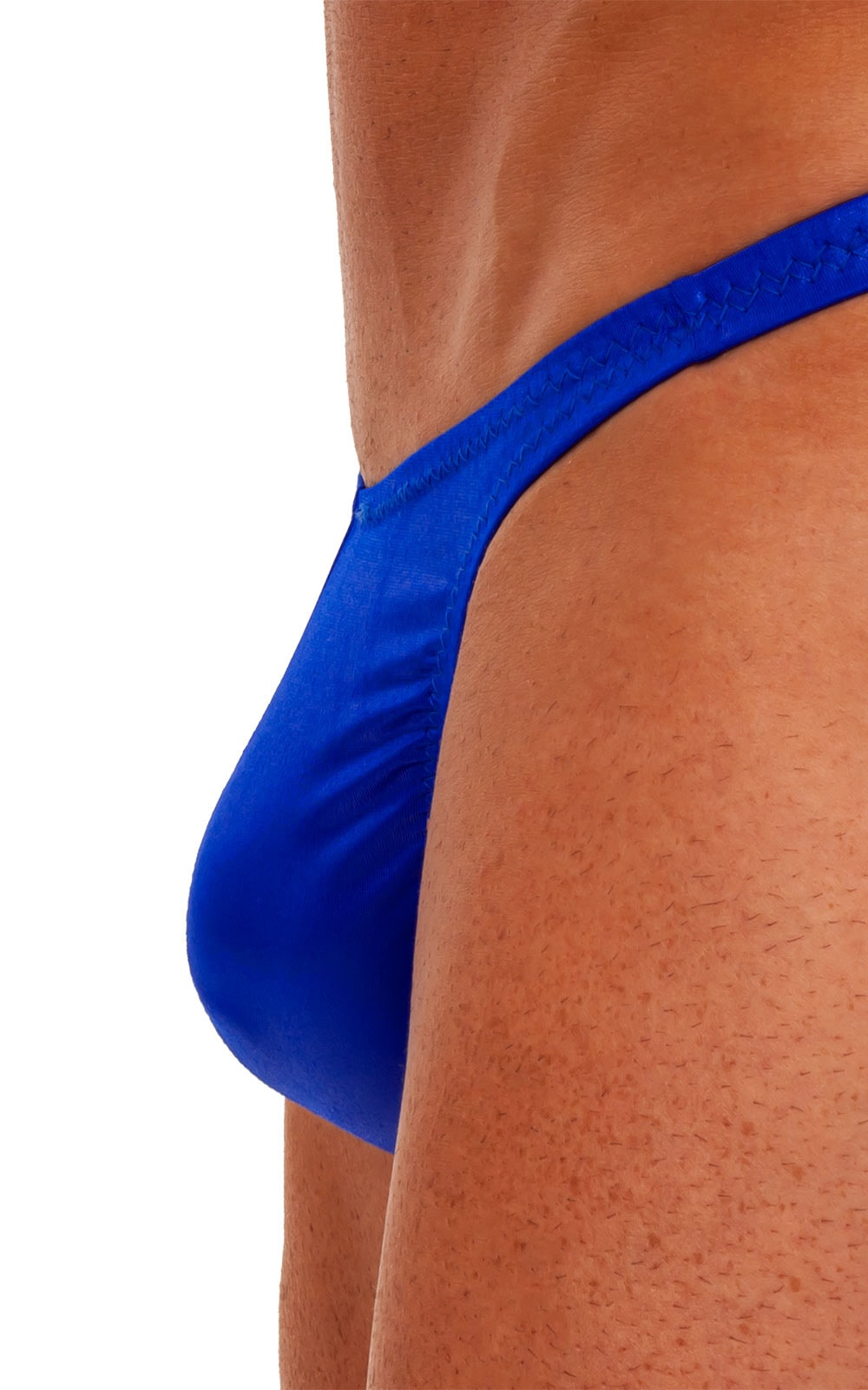 Swimsuit Thong in Wet Look Royal Blue 4
