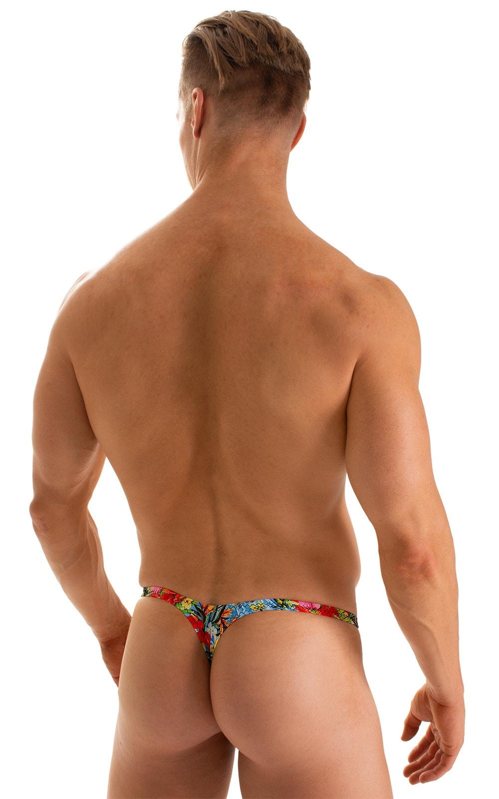 T Back Thong Swimsuit in Super ThinSKINZ Honolulu 2