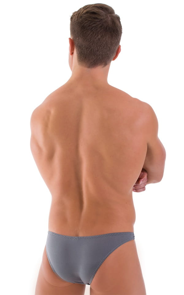Comfort Pouch - Bulge Enhancing - Half Back Bikini in ThinSKINZ Metal Gray 3