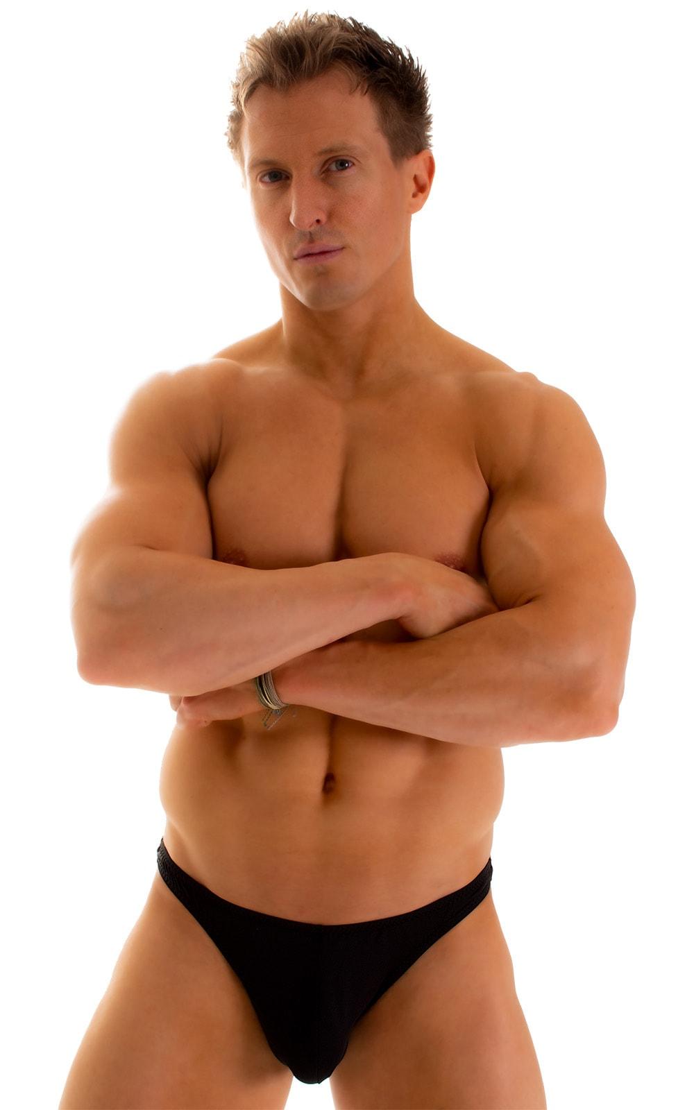 Enhancing Pouch Swim Brief in Super ThinSKINZ Black 1