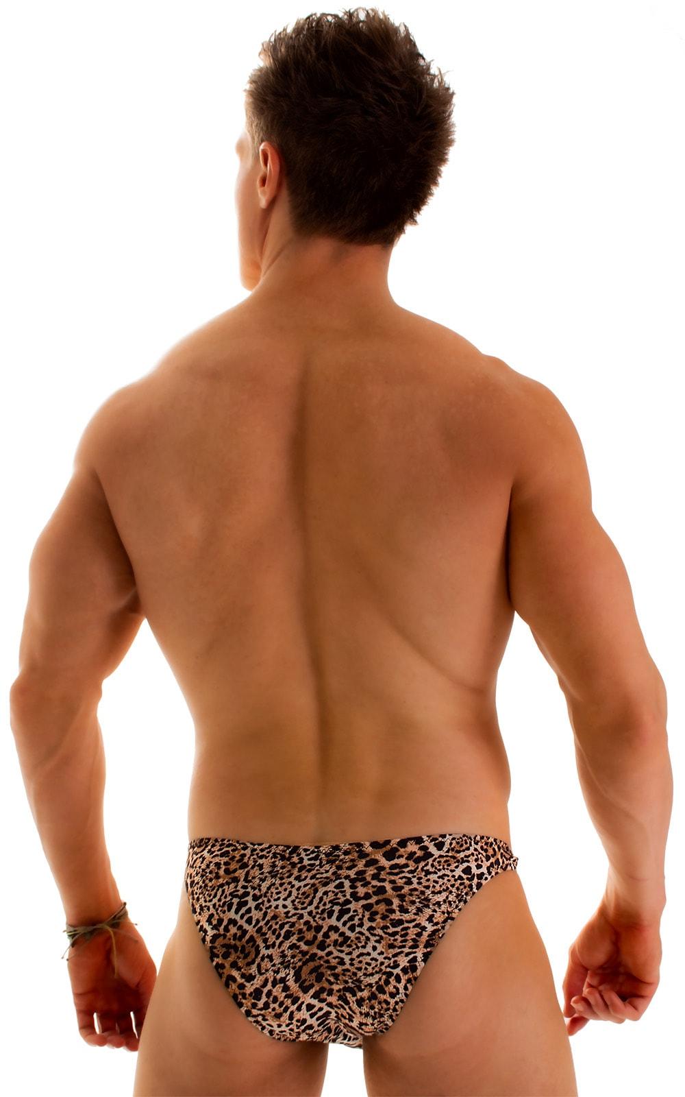 Enhancing Pouch Swim Brief in Super ThinSKINZ Cheeta 2