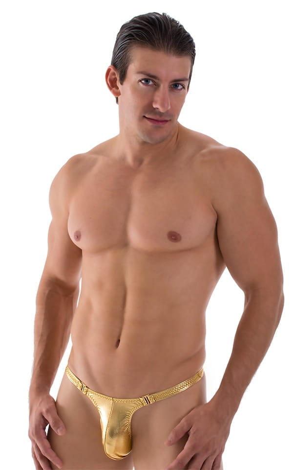 Quick Release Thong - Bravura Pouch in Liquid Gold 1