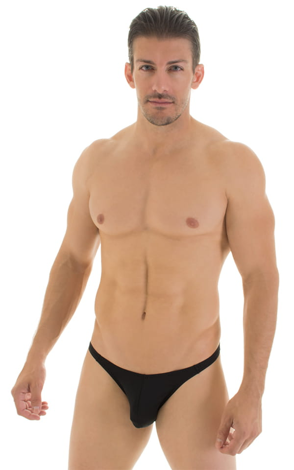Fitted Bikini Bathing Suit in Super ThinSKINZ Black 1
