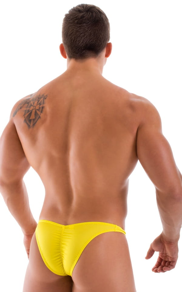 Fitted Pouch Puckered Back Bikini in Sunshine Yellow 3