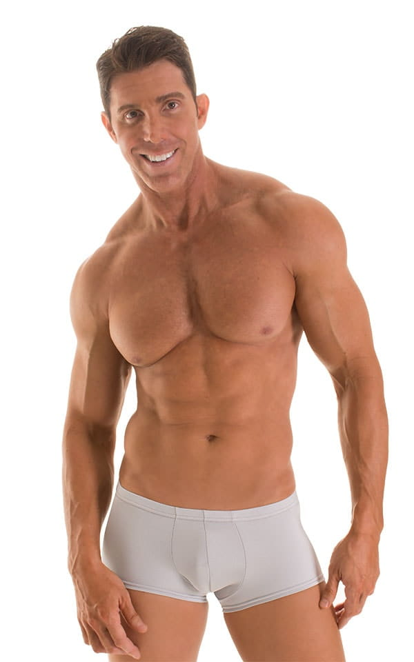 Fitted Pouch - Boxer - Swim Trunks in Platinum 1