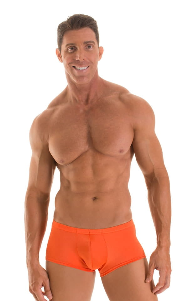 Fitted Pouch - Boxer - Swim Trunks in Pumpkin 1