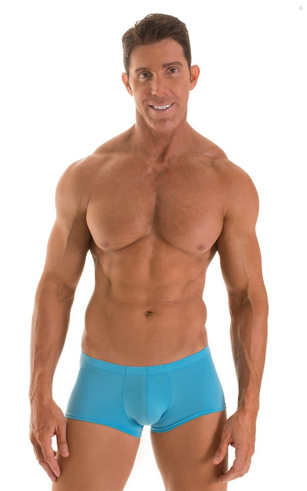Fitted Pouch - Boxer - Swim Trunks in ThinSKINZ Sapphire 1