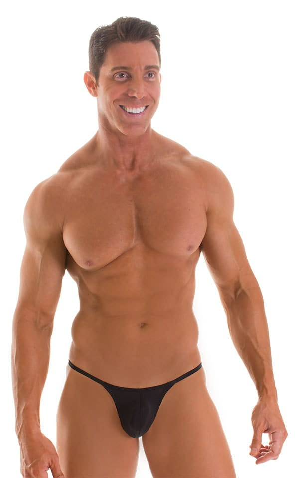 Stuffit Pouch G String Swimsuit in Super ThinSKINZ Black 1