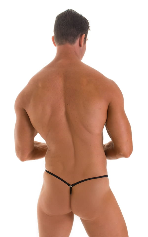 Stuffit Pouch G String Swimsuit in Super ThinSKINZ Black 2