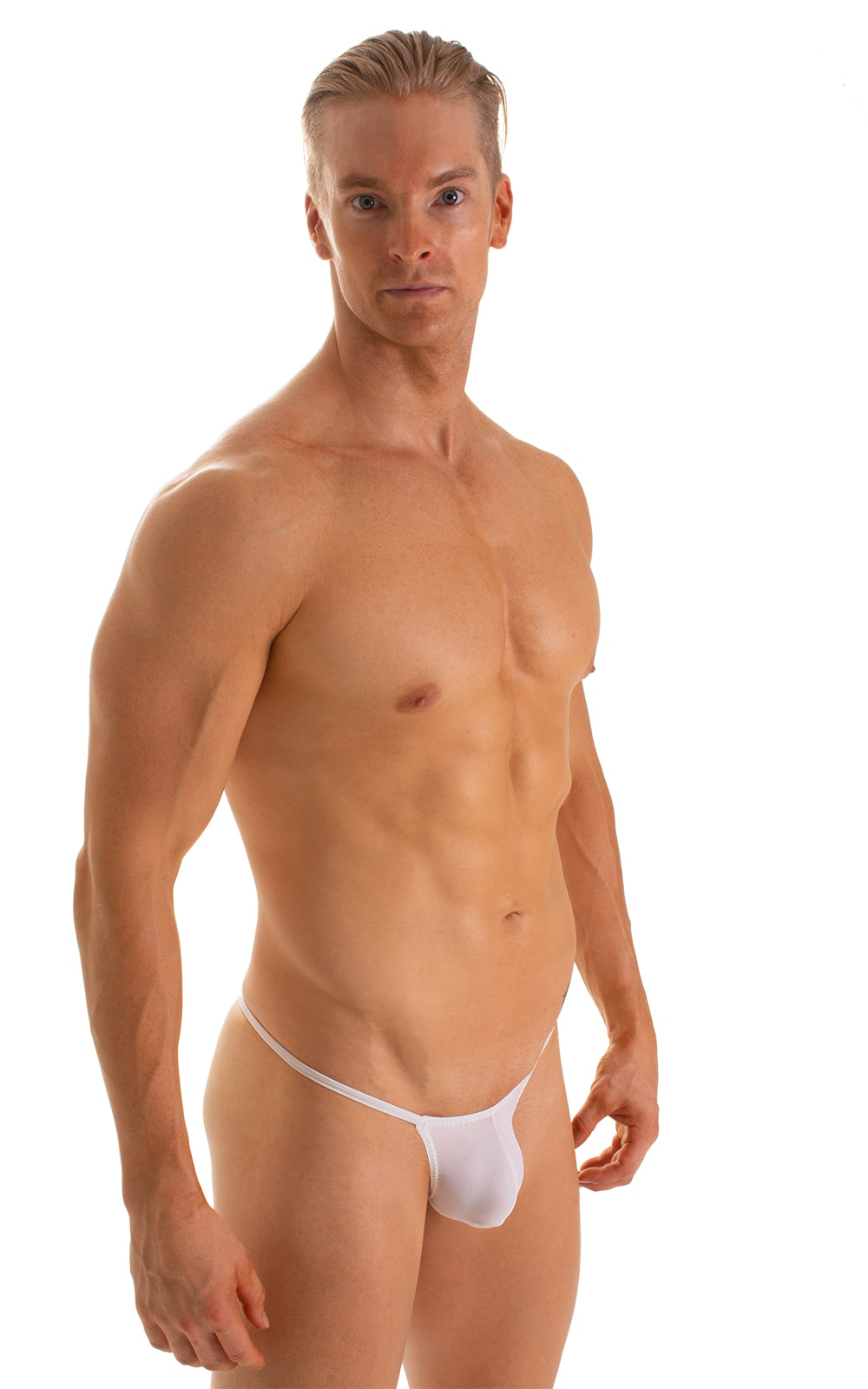 Stuffit Pouch G String Swimsuit in Super ThinSKINZ White 1