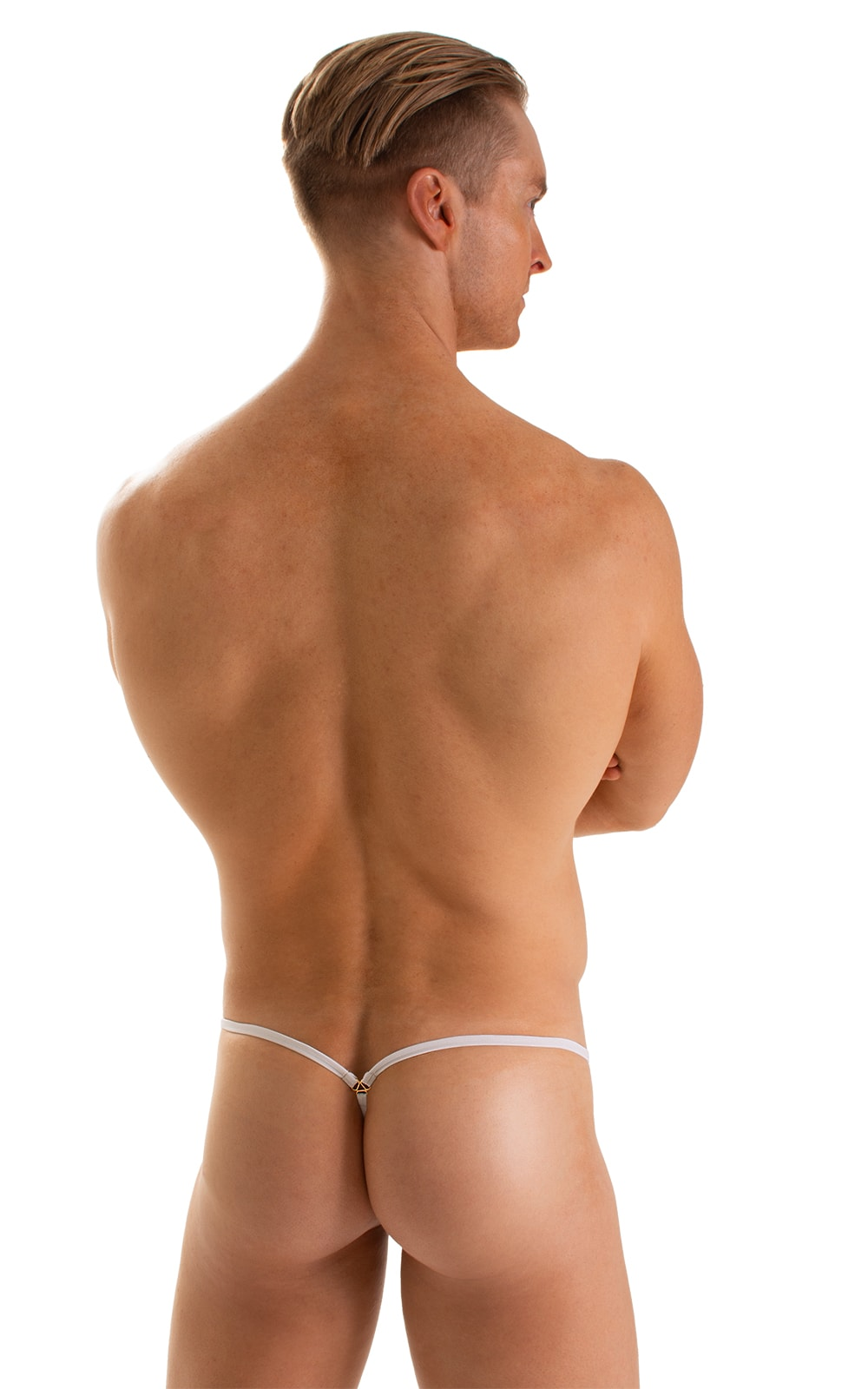 Stuffit Pouch G String Swimsuit in Super ThinSKINZ White 2