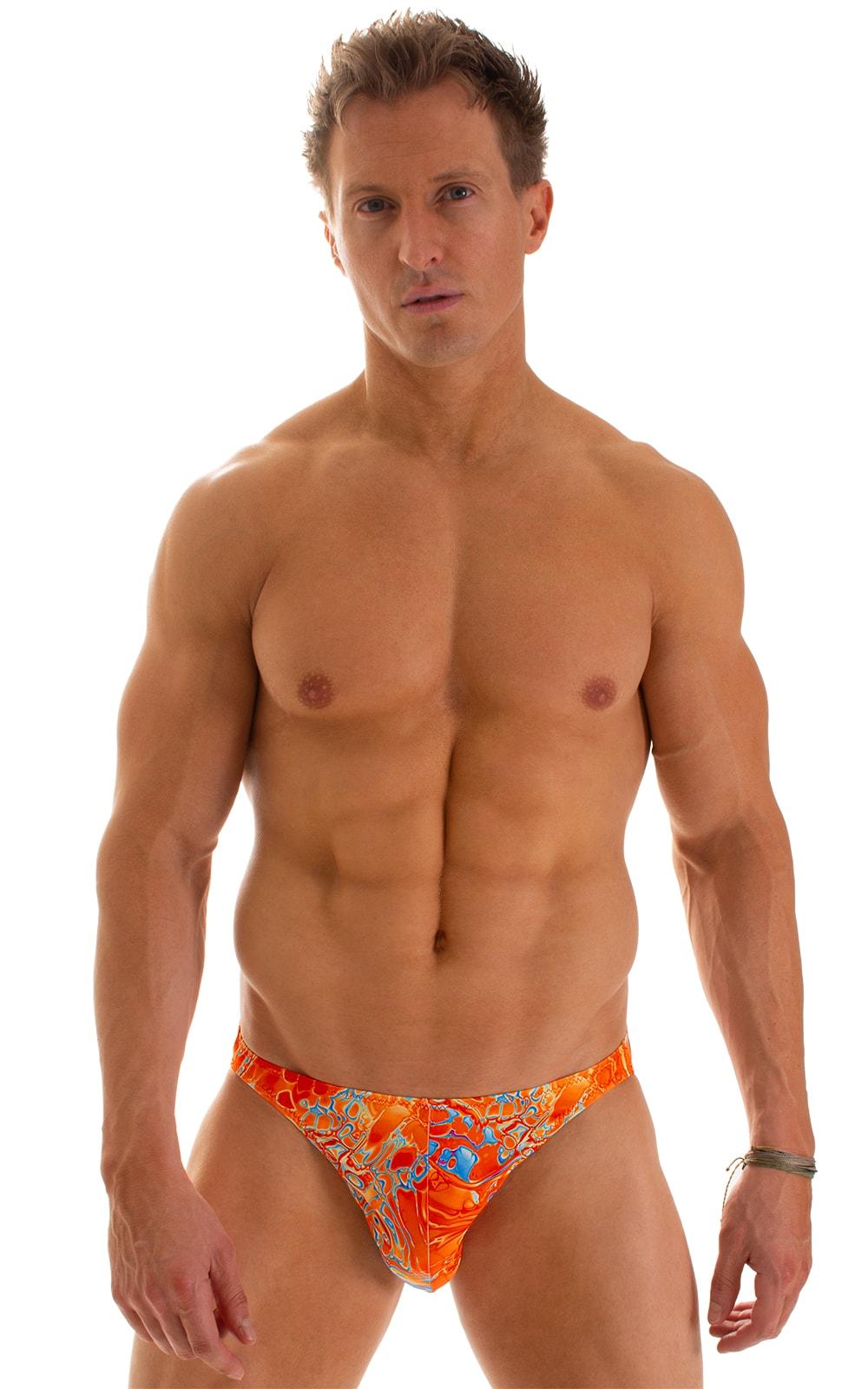 Bikini-Brief Swimsuit in Vapor Wave Orange 1