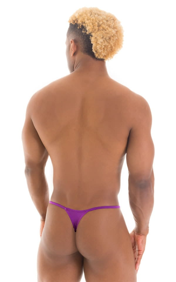 Smooth Pouch Skinny Sides Swim Thong in ThinSKINZ Grape 3
