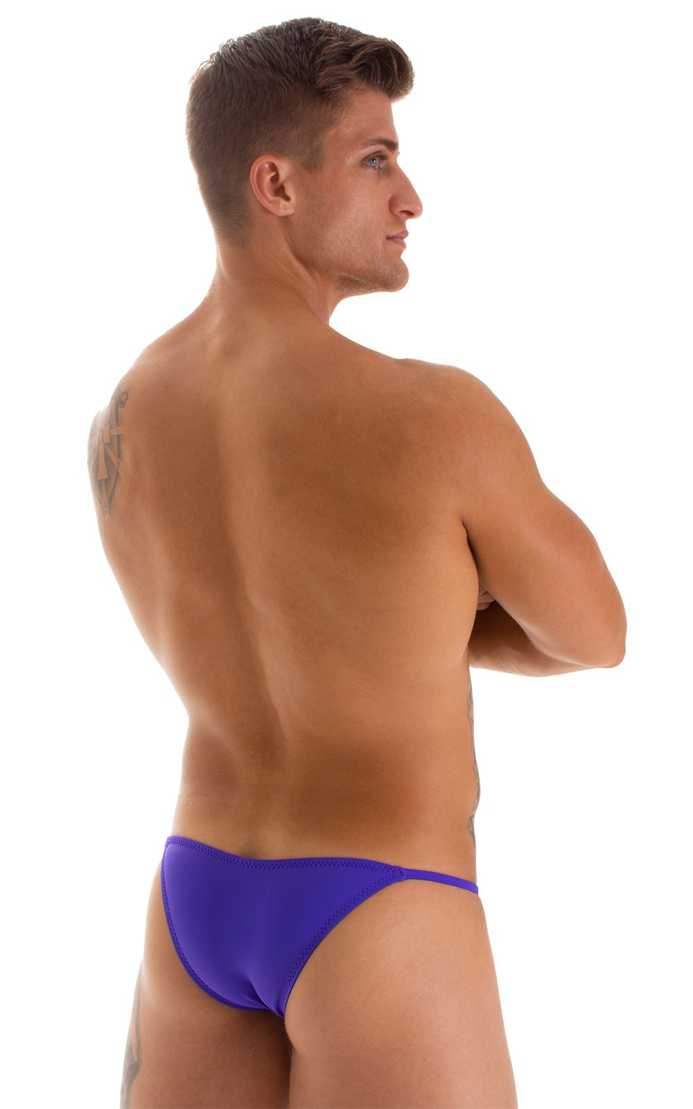 Stuffit Pouch Half Back Tanning Swimsuit in Indaco 2
