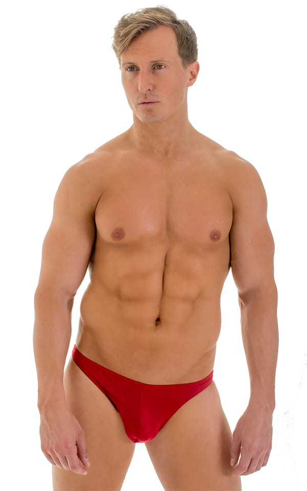Enhancing Pouch Swim Brief in Red 1